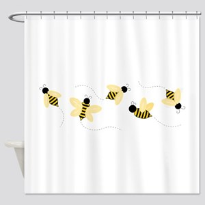 eb3461ab9d39 Bee Shower Curtains - CafePress