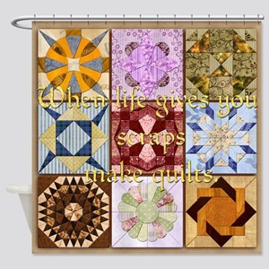 Harvest Moons Make Quilts Shower Curtain