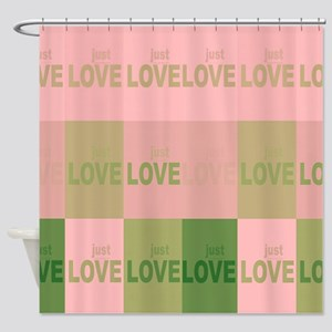 Just LOVE Pink Shower Curtain
