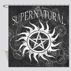 Supernatural Black Shower Curtain