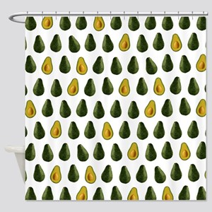 Avocado Pattern Shower Curtain