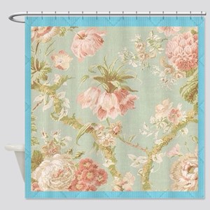 Vintage Tea Roses Shower Curtain