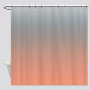Peach And Gray Shower Curtains Cafepress