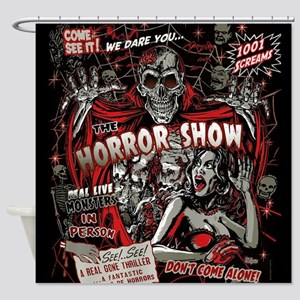 Horror Movie Monsters Spook Show Shower Curtain