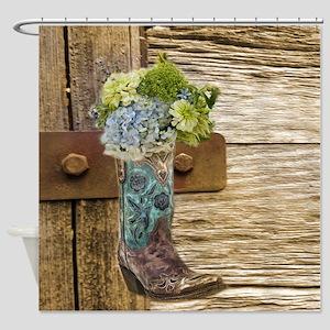 959a3e794 Cowboy Boots Shower Curtains - CafePress