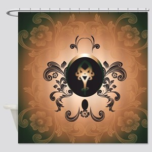 Insight, foresight rune Shower Curtain