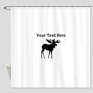Custom Moose Silhouette Shower Curtain