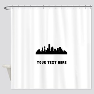 Dallas Cityscape Skyline (Custom) Shower Curtain