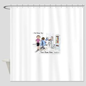 Hair Dresser, Female Shower Curtain
