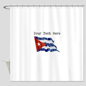 Cuba Flag (Distressed) Shower Curtain