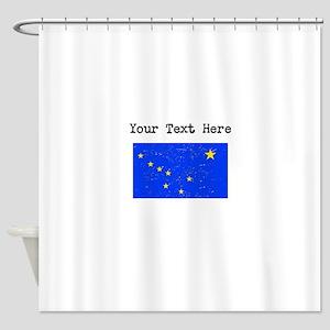 Alaska State Flag (Distressed) Shower Curtain