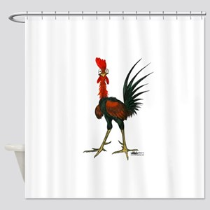 Crazy Rooster Shower Curtain