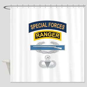 SF Ranger CIB Airborne Master Shower Curtain