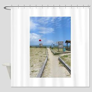 Beach On A1a Shower Curtain