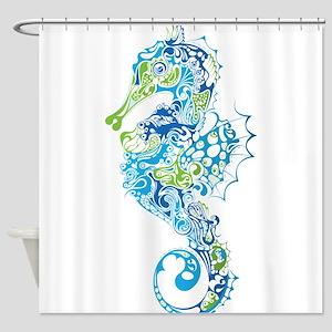 Fancy Seahorse Shower Curtain