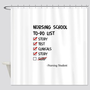 Nursing Student To-Do List Shower Curtain