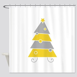 Cartoon Christmas Tree Shower Curtain