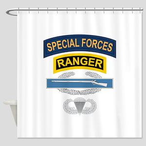 SF Ranger CIB Airborne Shower Curtain