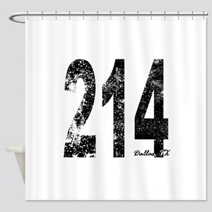 Dallas Area Code 214 Shower Curtain