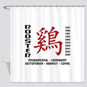 Years of The Rooster Shower Curtain