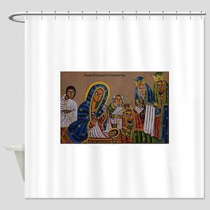 Ethiopian Christmas Day Shower Curtain