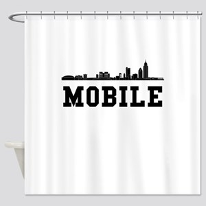 Mobile AL Skyline Shower Curtain