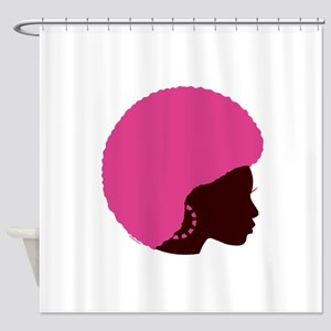 Pink_Afro Shower Curtain