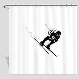 Ski Racer Shower Curtain