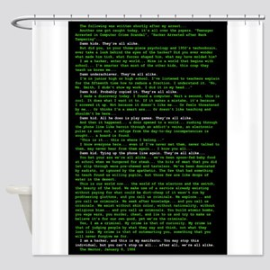 Large poster Shower Curtain