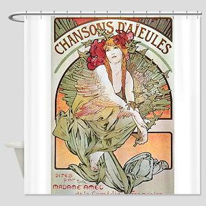 CHANSONS D'AIEULES, C.1898 Shower Curtain
