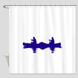BLUE CANOE Shower Curtain