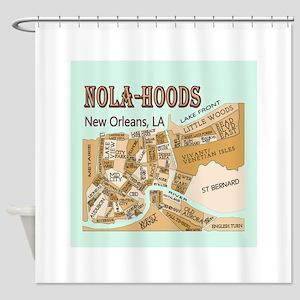 NOLA-Hoods Shower Curtain