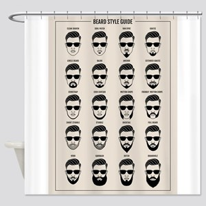 beard style guide Shower Curtain
