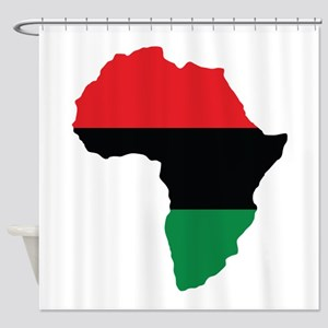 Red, Black and Green Africa Flag Shower Curtain