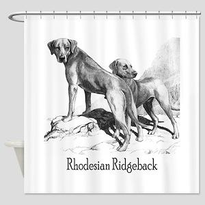 Rhodesian Ridgeback Vintage Shower Curtain