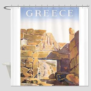 Greece,Acropolis of Mycenae, Vintage Travel Poster