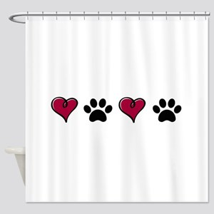 Love Pets Shower Curtain