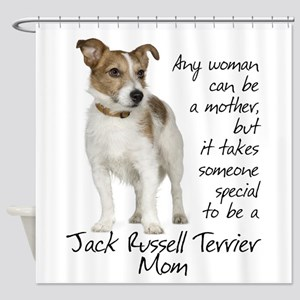 Jack Russell Mom Shower Curtain