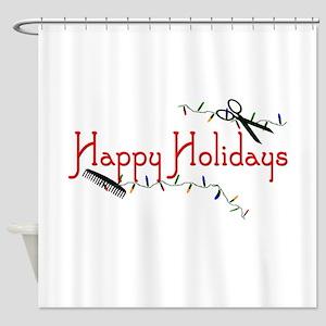 Happy Hairstylist Holidays Shower Curtain