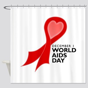 World AIDS Day Red Ribbon Shower Curtain