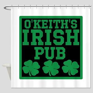 Personalized Irish Pub Shower Curtain