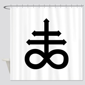 Hermetic Alchemical Cross Shower Curtain