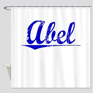 Abel, Blue, Aged Shower Curtain