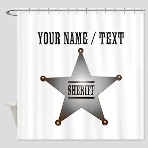 Custom Sheriff Badge Shower Curtain