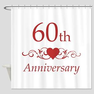 60th Wedding Anniversary Shower Curtain