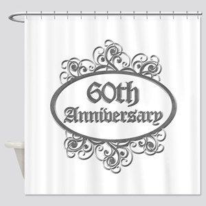 60th Wedding Aniversary (Engraved) Shower Curtain