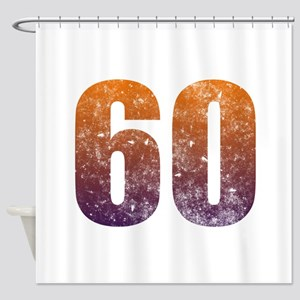 Cool 60th Birthday Shower Curtain