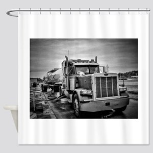 Big Red On The Job Shower Curtain