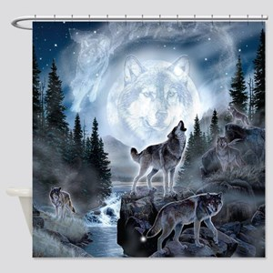 spirt of the wolf Shower Curtain