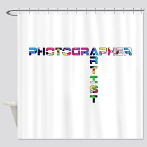 PHOTOGRAPHER-ARTIST-COLOR Shower Curtain